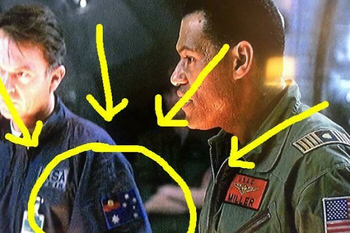 In Event Horizon, Sam Neill Requested That The Union Jack On An Australian Flag Patch Should Be Replaced With An Aboriginal Flag; The Way He Thought It'd Look In 2047