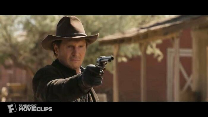 "When Liam Neeson Was Asked To Play The Antagonist In A Million Ways To Die In The West (2014) (Directed By Seth Mcfarlane) He Accepted Due To A Scene In Family Guy Where Peter Says ""Imagine Liam Neeson In A Western! Ha! With That Funny Accent Of His!"""