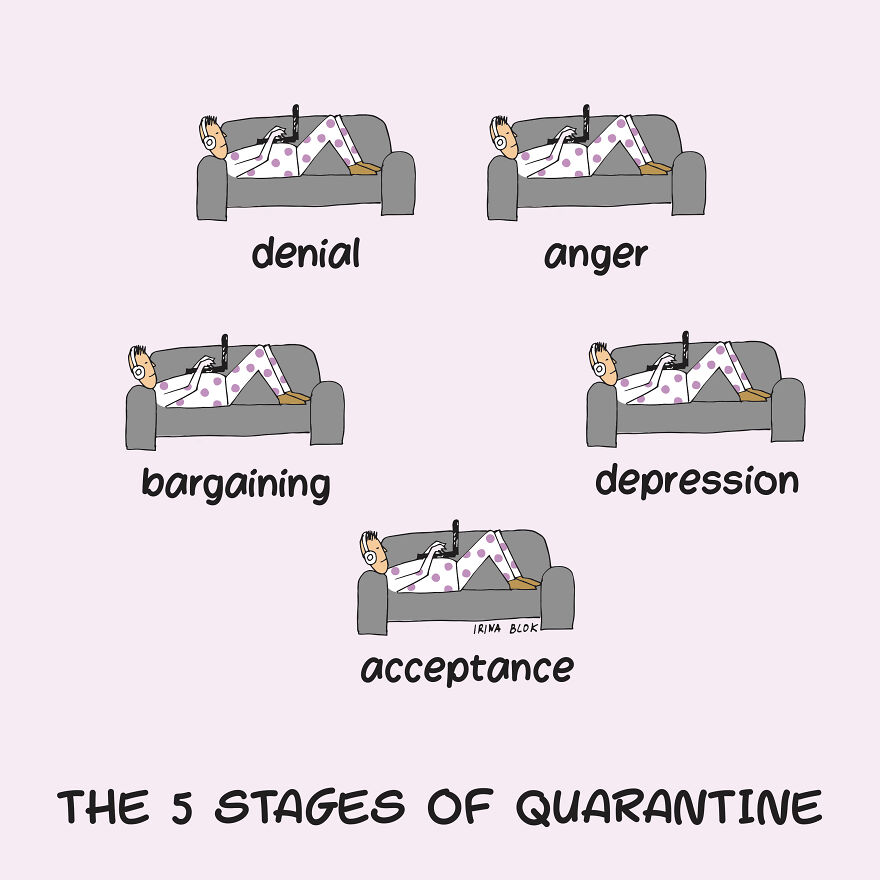 5 Stages Of Quarantine