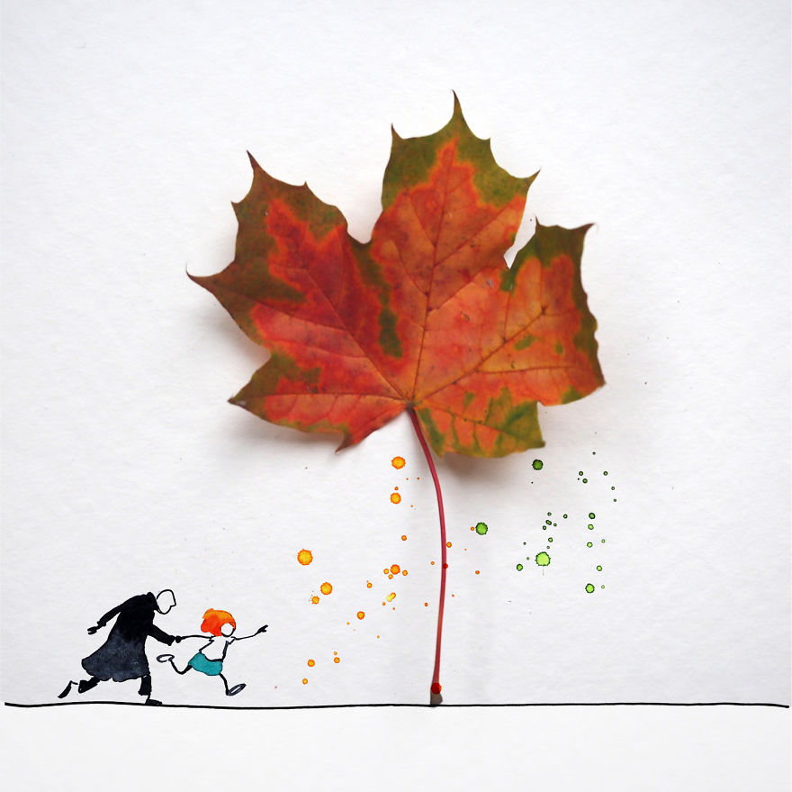 Lets Go To Collect Leaves!