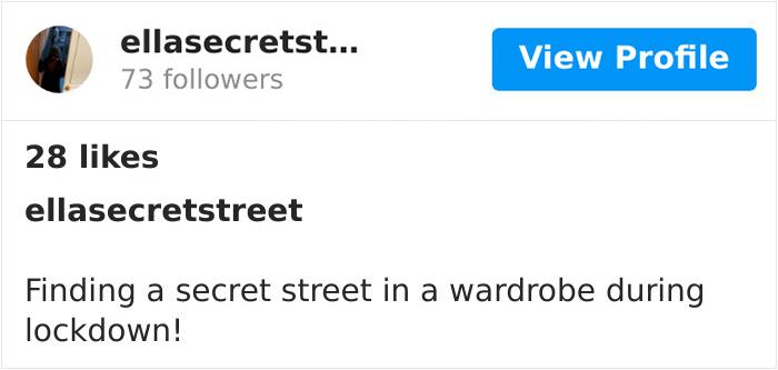 """My Daughter Just Found The Secret Street I Built Behind Her Wardrobe For Lockdown!"""