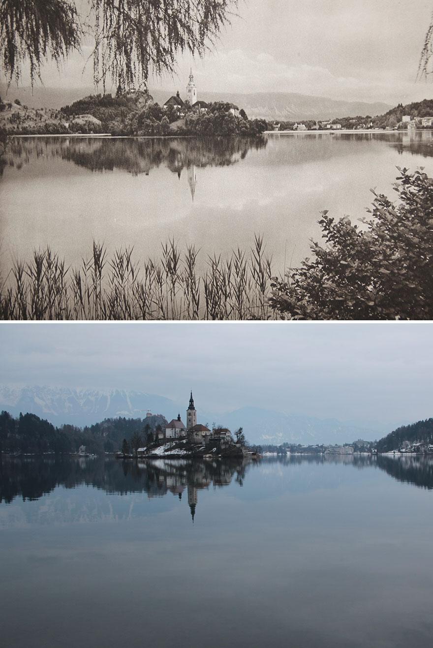 Bled, Slovenia, 1926 vs. 2018