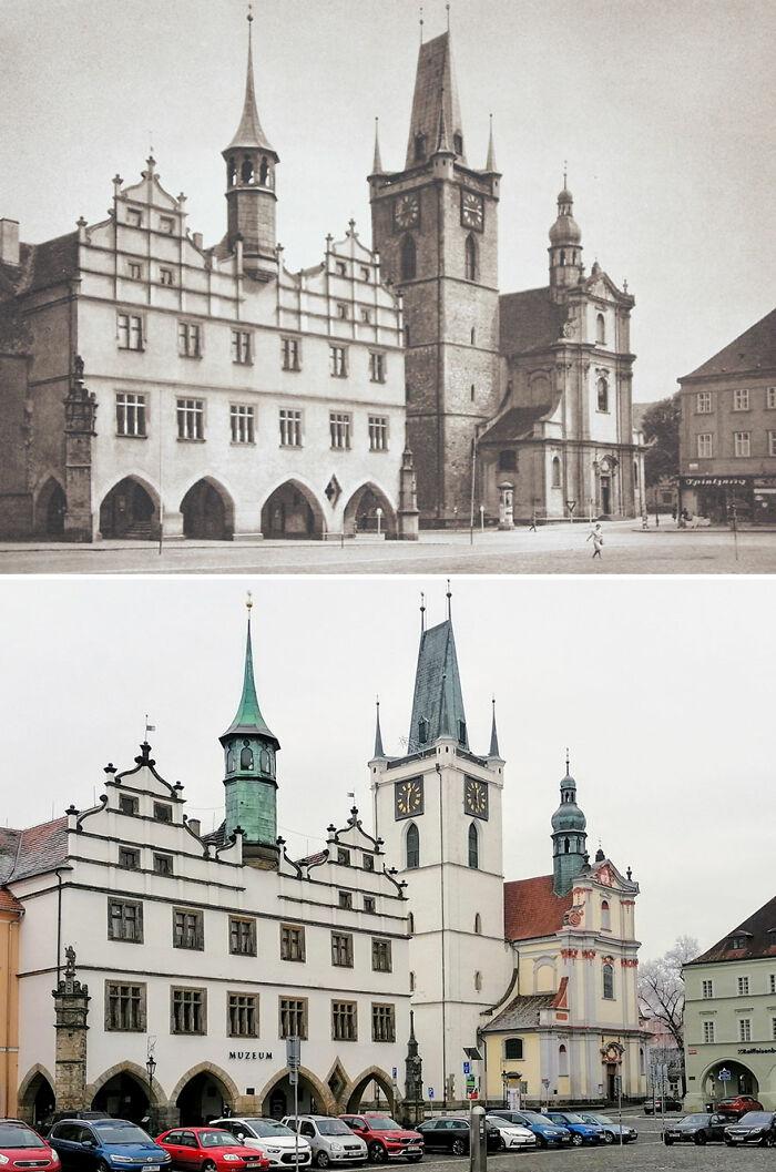 Litoměřice, Chequia, (foto publicada en) 1941 vs. 2020
