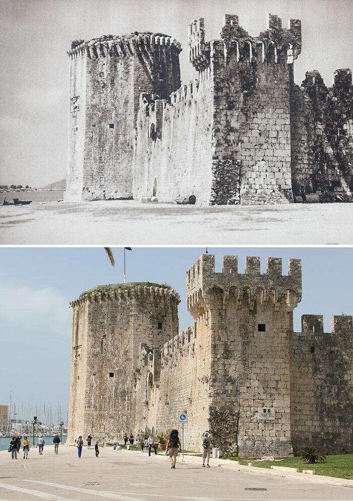 Castillo Kamerlengo, Trogir, Croacia, 1926 vs. 2019
