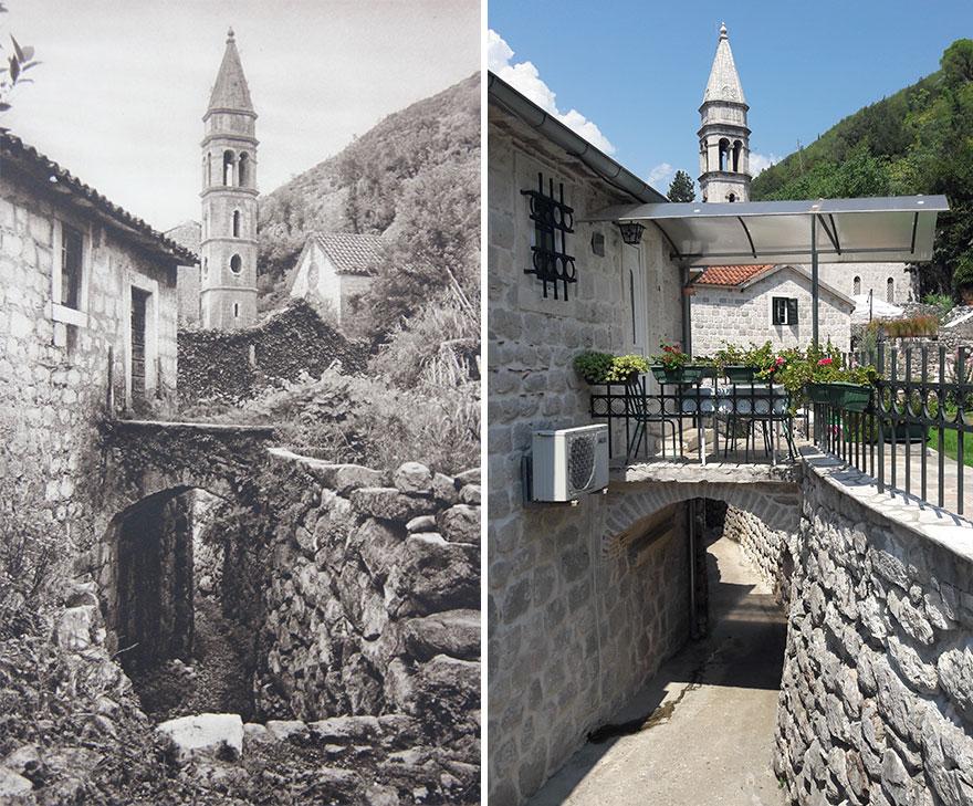 Perast, Montenegro, 1926 vs. 2018