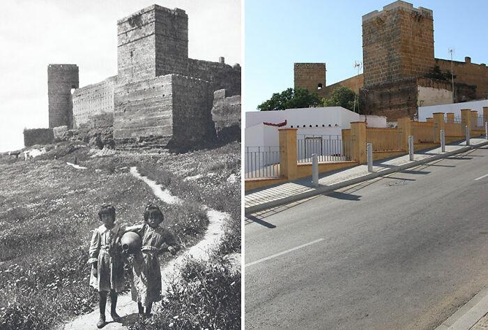 Castillo de Alcalá De Guadaíra, España, 1914-'19 vs. 2019