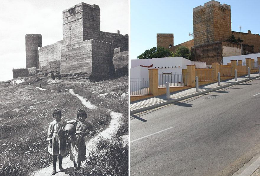 The Castle Of Alcalá De Guadaíra, Spain, 1914-'19 vs. 2019