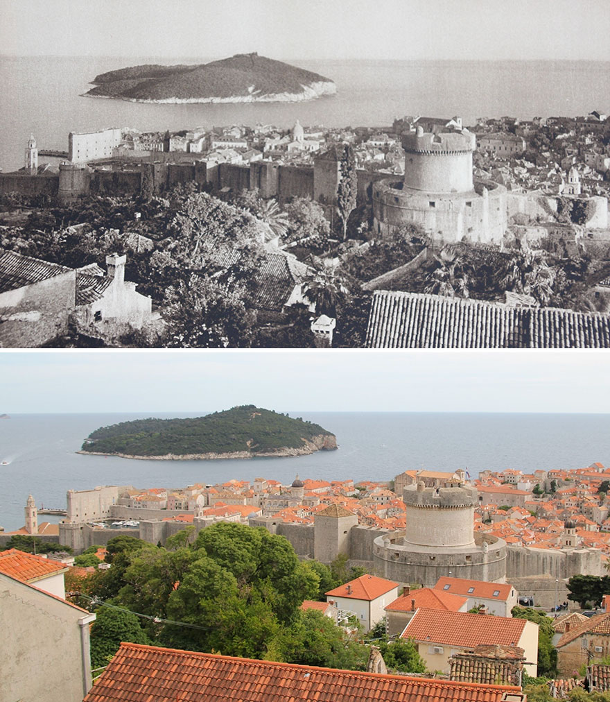 Dubrovnik And The Island Of Lokrum, 1926 vs. 2019