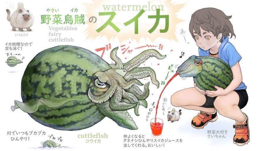 Watermelon Cuttlefish