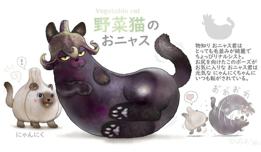 Eggplant Cat
