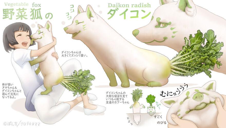 Daikon Radish Fox
