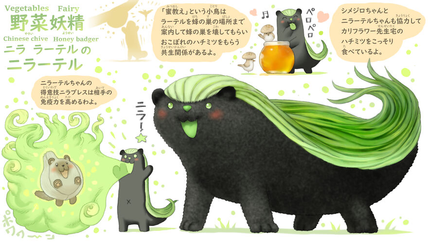 Chinese Chive Honey Badger