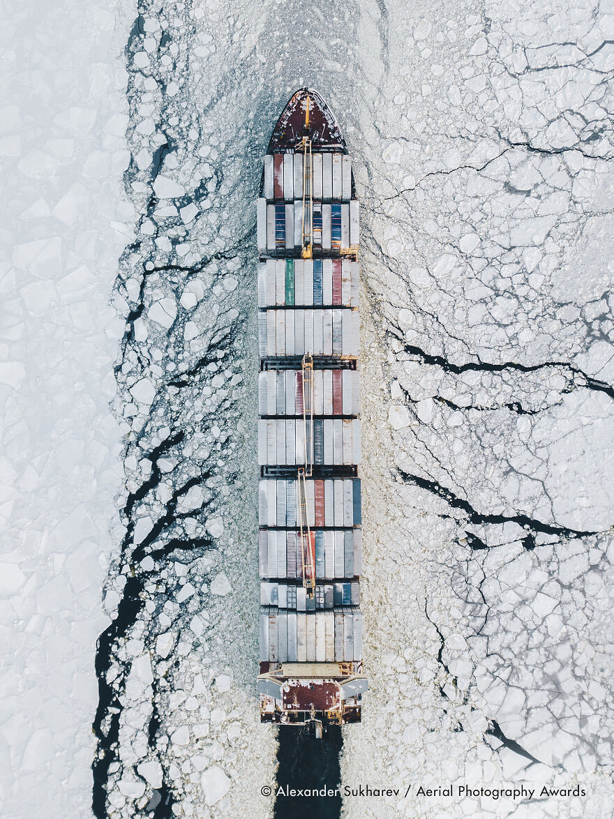First Place In Transportation Category: Fairway Of The Gulf Of Finland