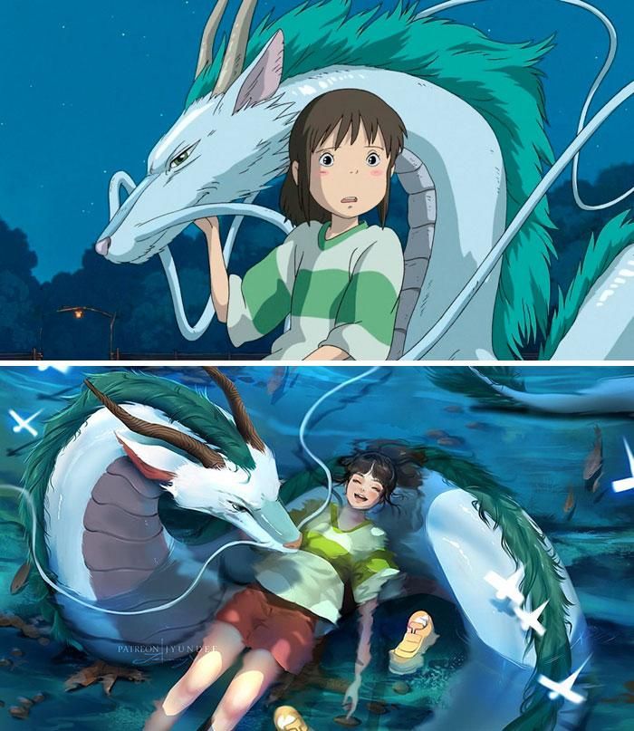 Chihiro & Haku (Spirited Away)