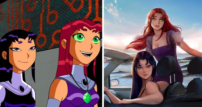 Starfire & Blackfire (Teen Titans)
