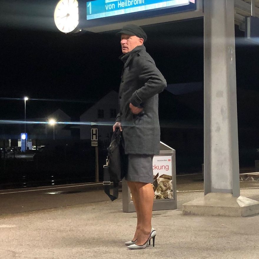 This Man In A Skirt And Heels Is Breaking Taboos, Questioning Standards, And Reinforcing That Clothes Have No Gender