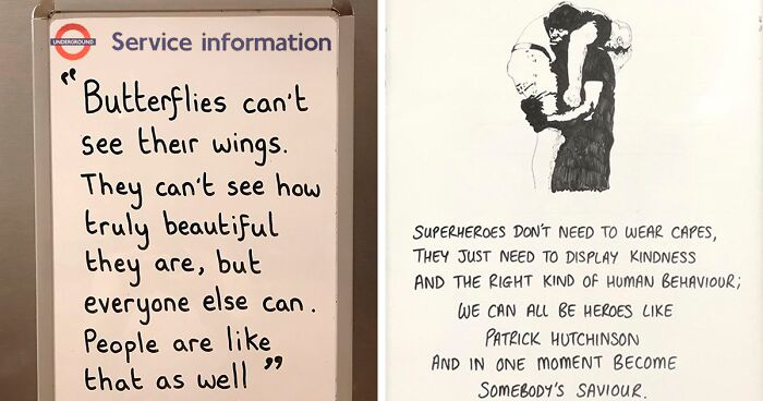 50 Thought-Provoking Messages On The London Underground Service Information Boards Written By 2 Masked Guys