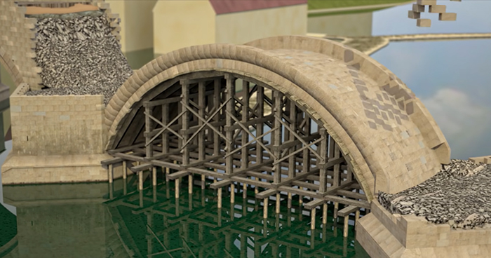 Someone Creates A Short Animation Showing How Bridges Were Built Back In The 14th Century