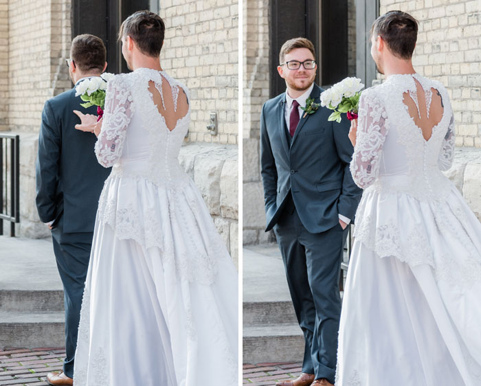 Funny Best Man Crashes First Look In A $60 Goodwill Wedding Dress