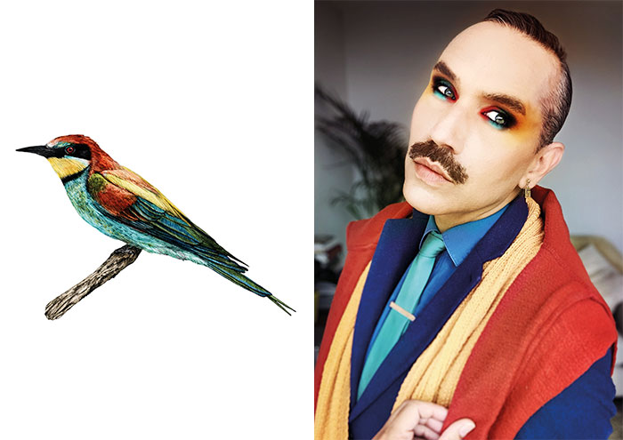23 Makeup And Fashion Looks I Created Inspired By The Birds I Drew