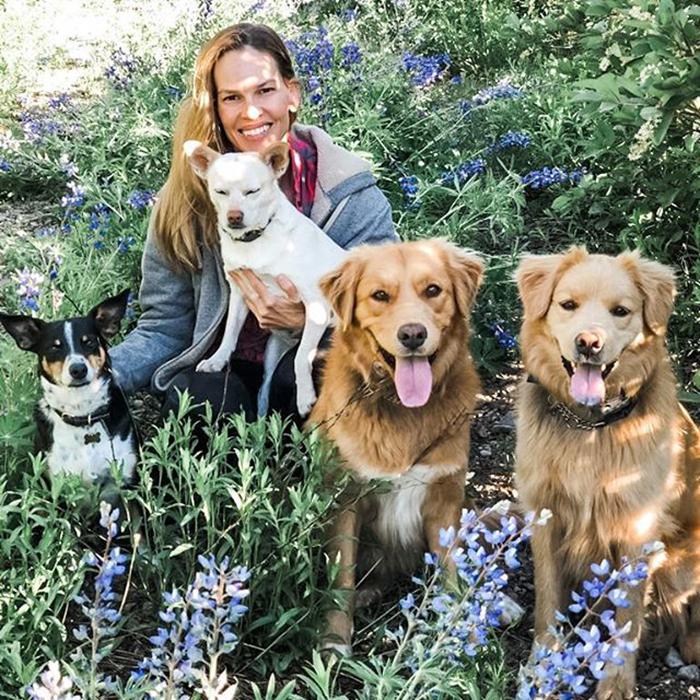 Hilary Swank & Lucky, Karoo, Rumi And Kai