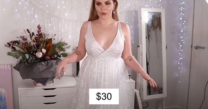 Esta mujer encargó 10 vestidos de novia por la app de Wish, muestra las expectativas VS la realidad