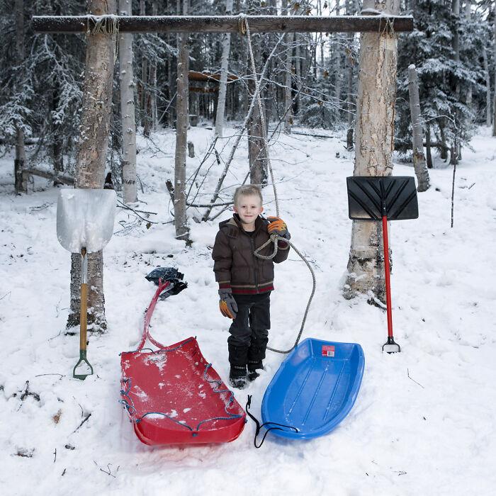 Callum, 4 años, Fairbanks, Alaska