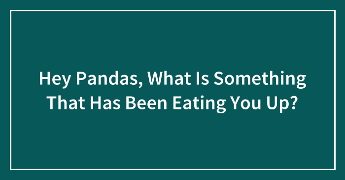 Hey Pandas, What Is Something That Has Been Eating You Up? (Closed)