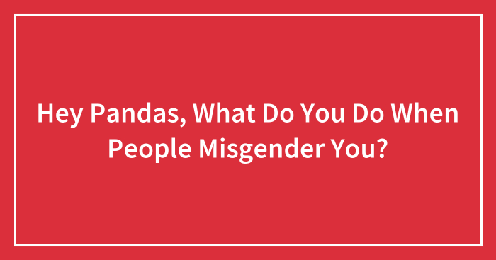 Hey Pandas, What Do You Do When People Misgender You? (Closed)