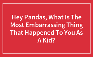 Hey Pandas, What Is The Most Embarrassing Thing That Happened To You As A Kid?