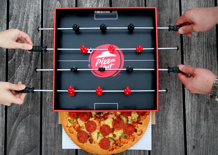 Pizza Hut's 'Foosball Pizza Box' Was Made For Pizza And Football Fans