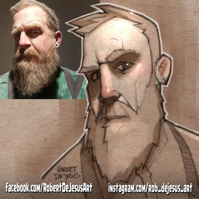 Robert Dejesus' Fun Illustrated Portraits