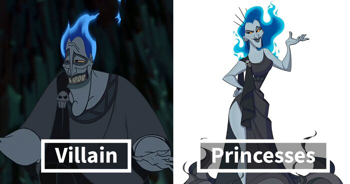 Artist Turns Well-Known Disney Villains Into Princesses And People Are Loving It