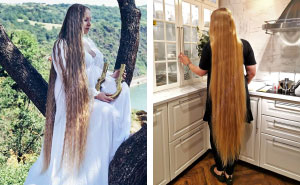 Real-Life Rapunzel With 5 Ft 9 In Hair Hasn't Had A Haircut In 15 Years