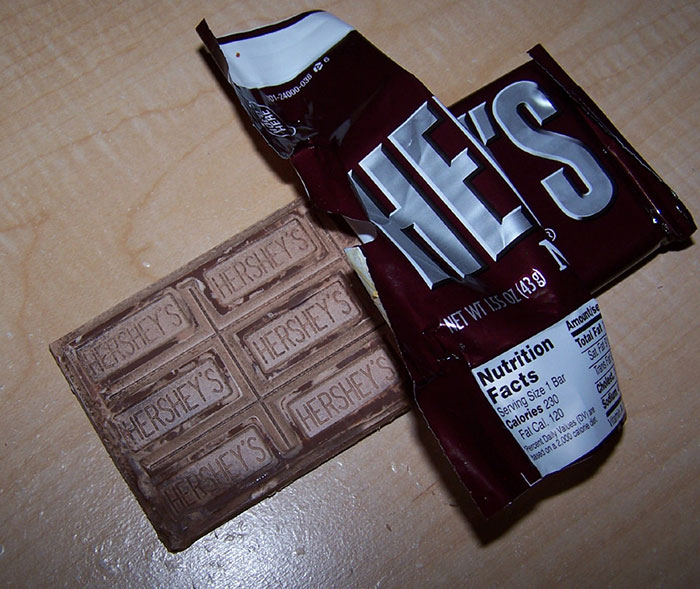 Chocolate with white or grayish film is fine to eat
