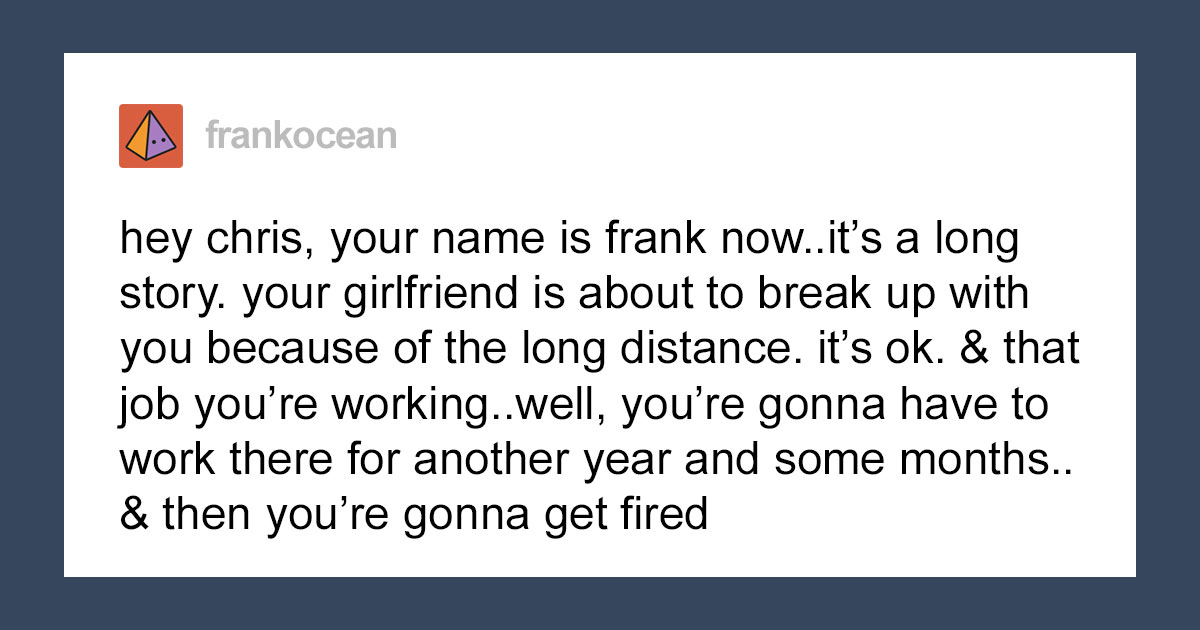 98K People On Twitter Can't Hold Back The Tears After Reading The Wholesome Letter Frank Ocean Wrote To His Younger Self Back In 2011