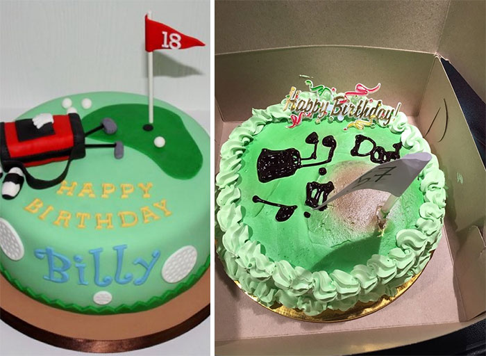 Ordered The Cake On The Left, Got The One On The Right