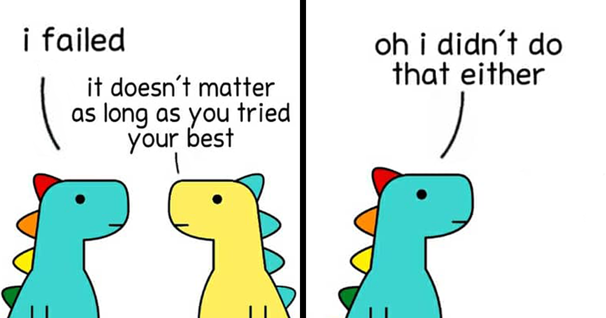 72 Comics About Lovely Dinosaurs Trying To Navigate Their Complex Emotions