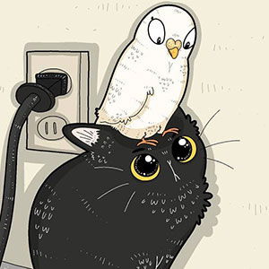 30 Of The Funniest Internet-Famous Cat Pics Get Illustrated By Tactooncat
