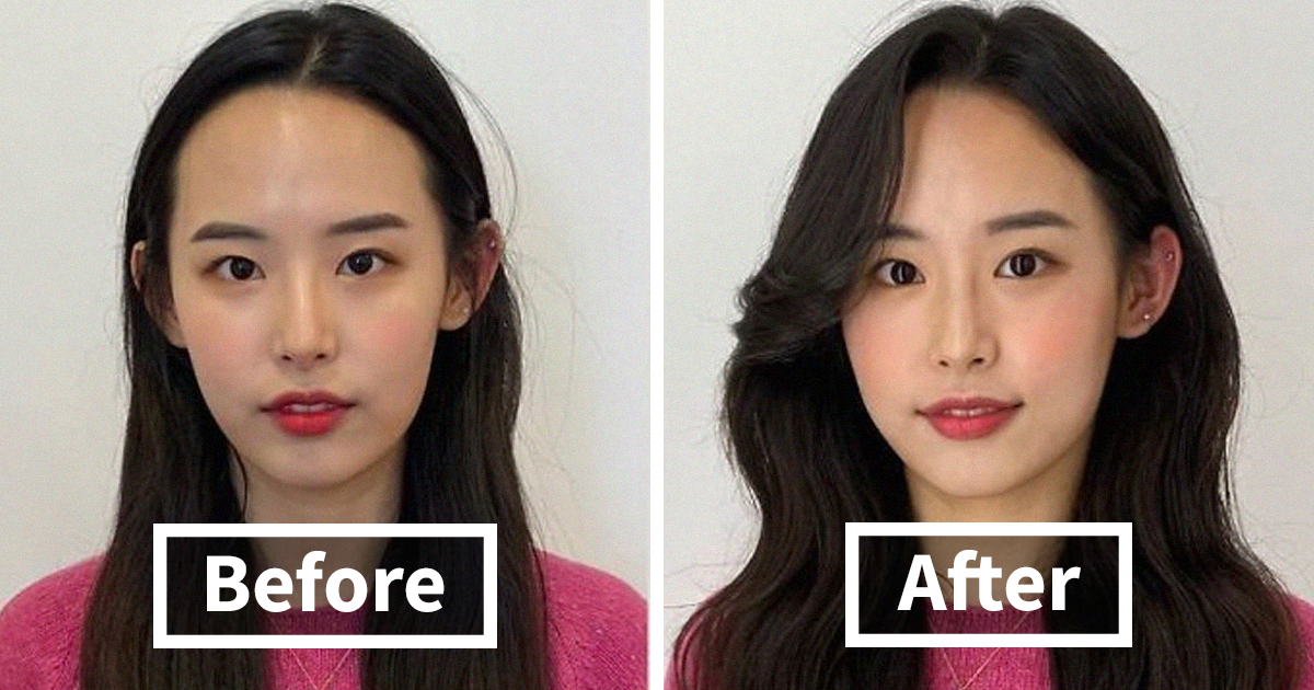 Korean Hair Stylist Shares Before And After Photos Of Her Clients' Transformations (55 Pics)