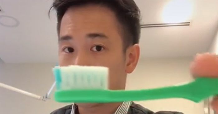 Dentist On TikTok Compares How Much Toothpaste We're Told To Use By The Commercials, And The Actual Amount We Need