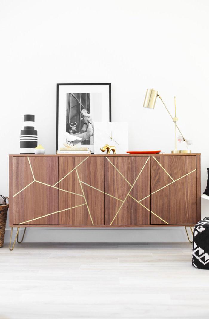 Mid Century Modern IKEA Hack Sideboard