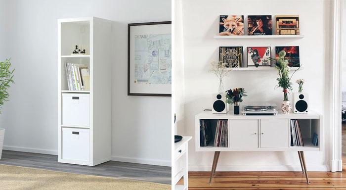 IKEA Kallax Mid Century Modern Sideboard Hack