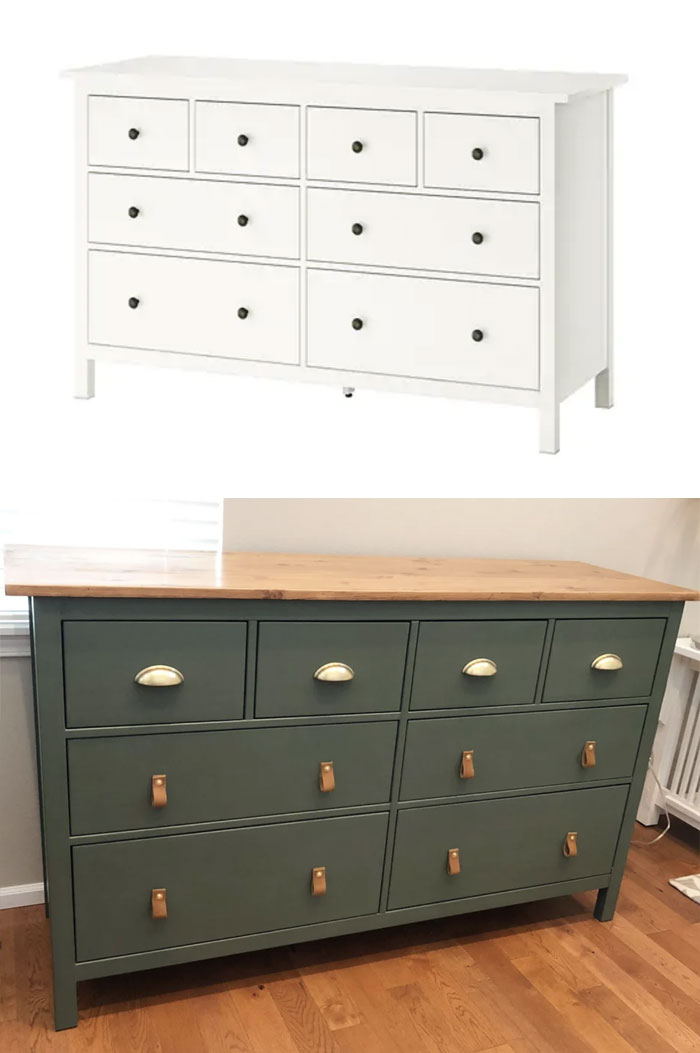 My IKEA Hemnes Dresser Hack! Sanding The Top Down Was A Pain, But Turned Out Lovely :-)