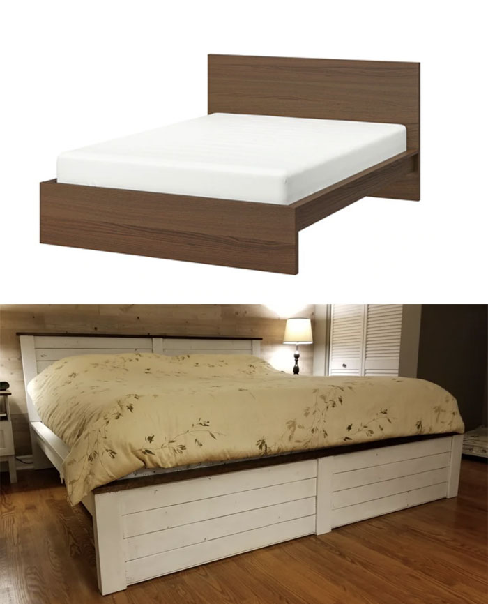 I Gave My Malm Bed A Country Style Makeover. Let Me Know What You Think ...