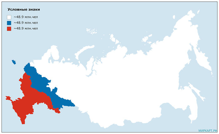 The Russian Flag But The Two Colors Have The Same Population