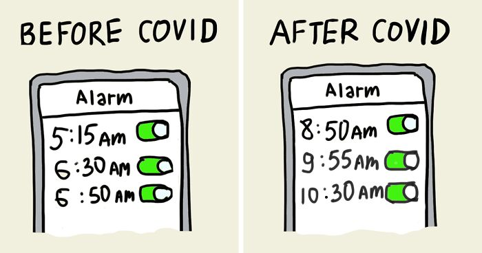 My 8 Comics That Compare Life Before And After Covid