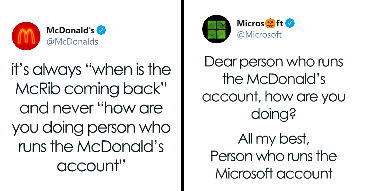McDonald's And Microsoft Have A Wholesome Conversation On Twitter After McD's Account Complains No One Asks How They're Doing