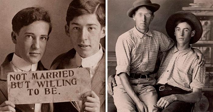 """Este álbum de fotografías antiguas de parejas masculinas muestra lo que los libros de Historia parecen """"olvidar"""" (30 fotos)"""