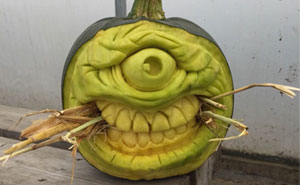 Here Are My 23 Pumpkin Carvings That Look Like Monsters